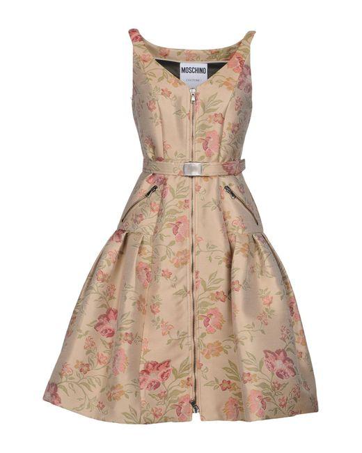 Moschino - Natural Knee-length Dress - Lyst