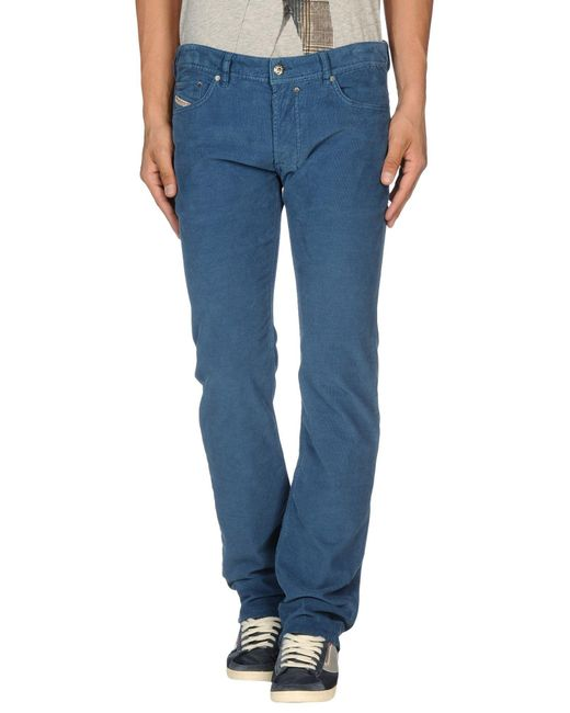 DIESEL - Blue Casual Trouser for Men - Lyst