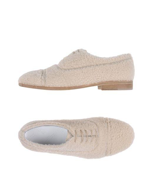 Maison Margiela - Natural Lace-up Shoe - Lyst