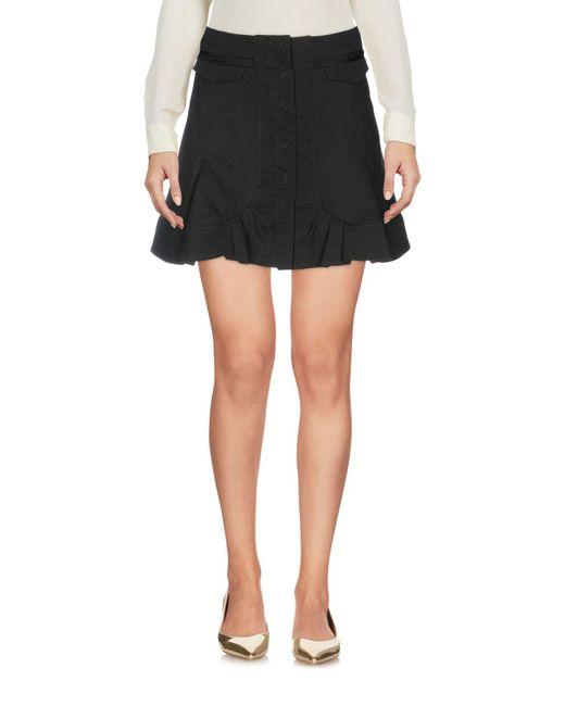 CoSTUME NATIONAL - Green Mini Skirt - Lyst