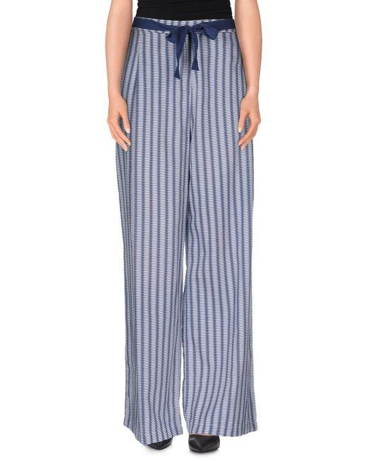 Stefanel - Blue Casual Pants - Lyst