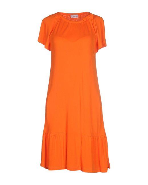 RED Valentino - Orange Knee-length Dress - Lyst