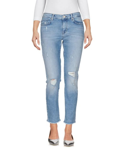 ONLY - Blue Denim Pants - Lyst