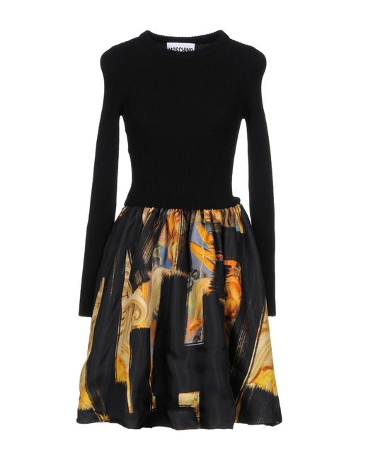 Moschino - Black Short Dresses - Lyst