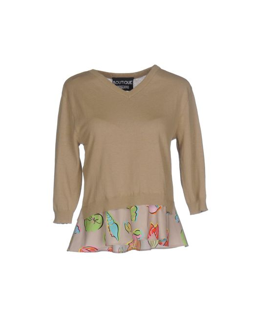 Boutique Moschino - Natural Sweater - Lyst
