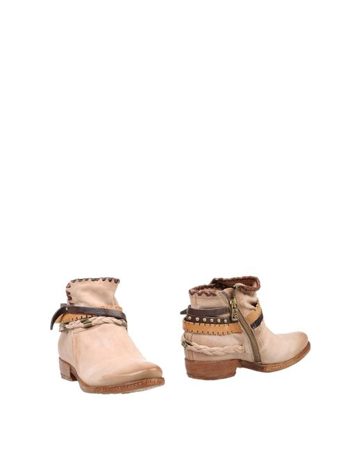 A.s.98 - Natural Ankle Boots - Lyst