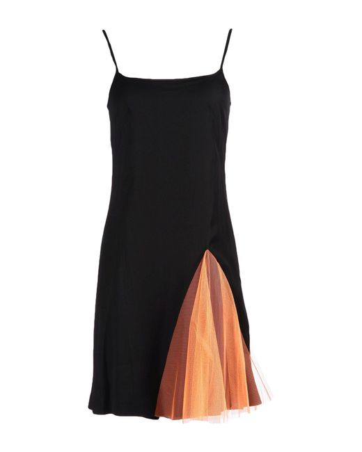 Christopher Kane - Orange Short Dress - Lyst