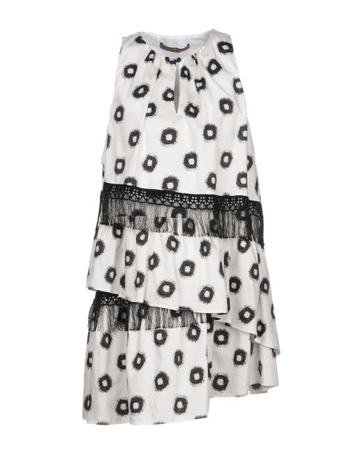 Space Style Concept - White Short Dress - Lyst