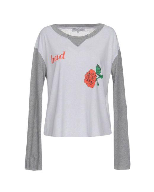 Wildfox - White T-shirt - Lyst