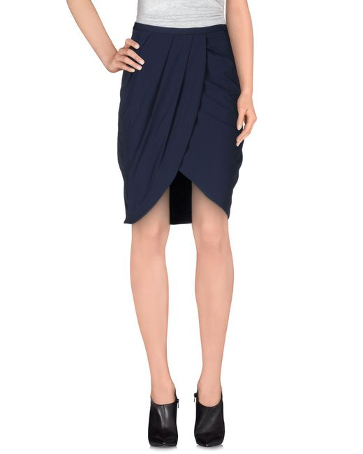 Betty Blue - Blue Knee Length Skirt - Lyst