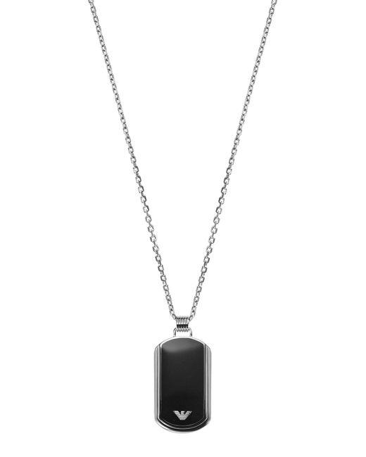 Emporio Armani | Black Necklace for Men | Lyst