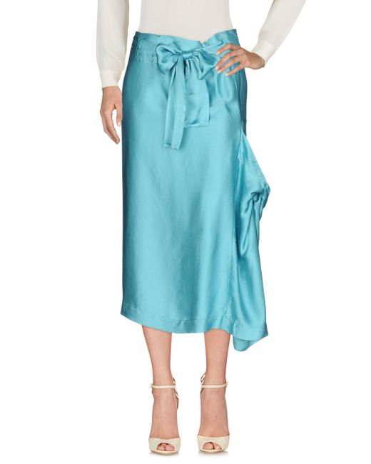 Vivienne Westwood Anglomania - Blue 3/4 Length Skirt - Lyst