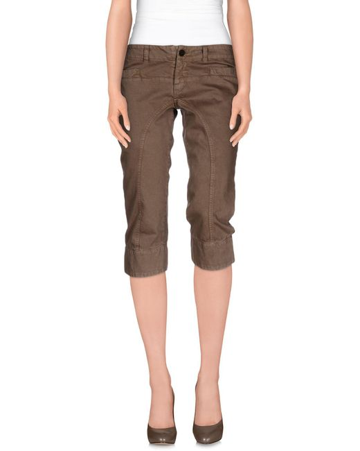 Dondup - Natural 3/4-length Trousers - Lyst