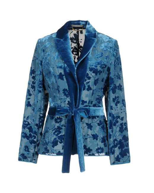 Alberta Ferretti - Blue Blazer - Lyst