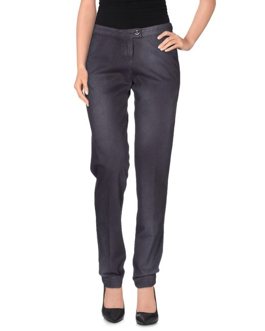 Armani Jeans - Purple Casual Pants - Lyst