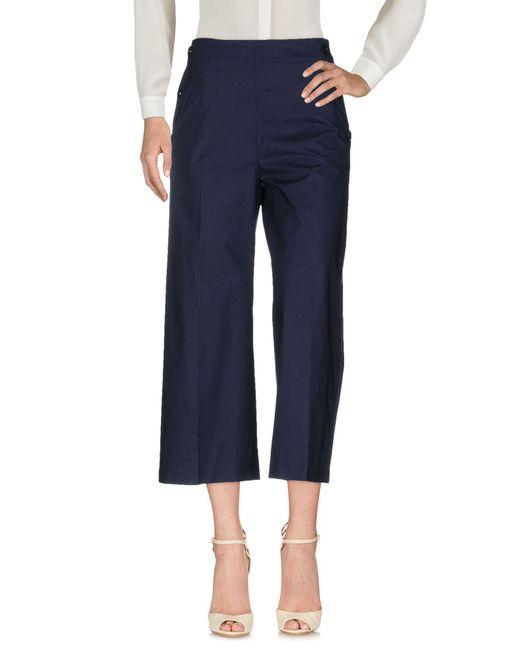 Blue Les Copains - Blue Casual Trouser - Lyst