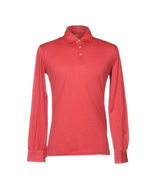 Fedeli - Red Polo Shirt for Men - Lyst