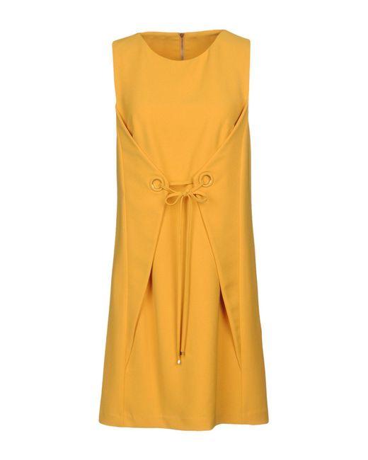 Annarita N. - Yellow Short Dresses - Lyst
