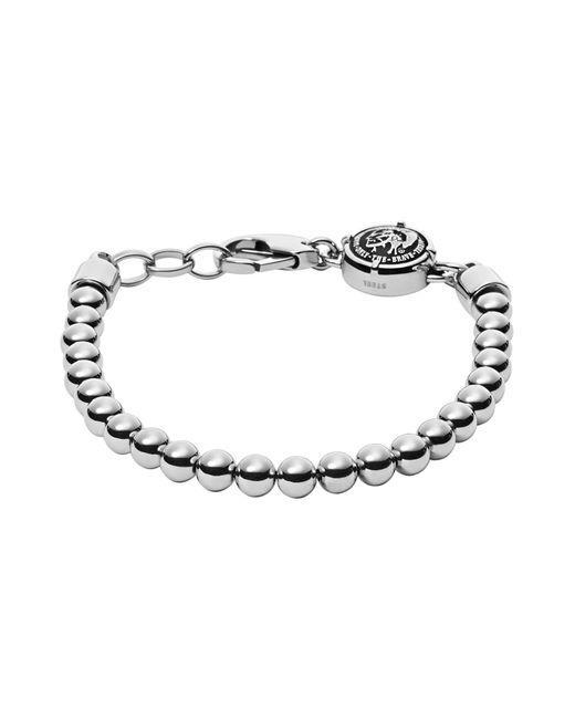 DIESEL - Metallic Bracelets for Men - Lyst