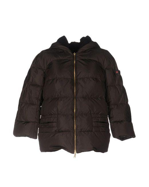 Peuterey - Brown Down Jacket - Lyst