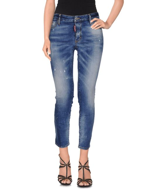 DSquared² - Blue Denim Trousers - Lyst