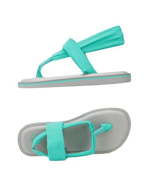 JOYCOLORS - Green Toe Post Sandal - Lyst