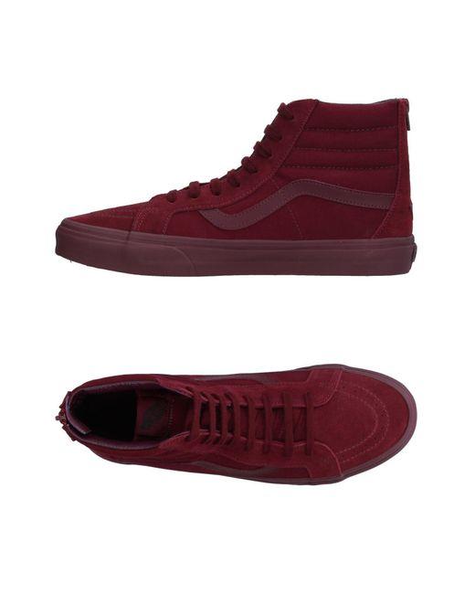 Vans - Red High-tops & Sneakers for Men - Lyst