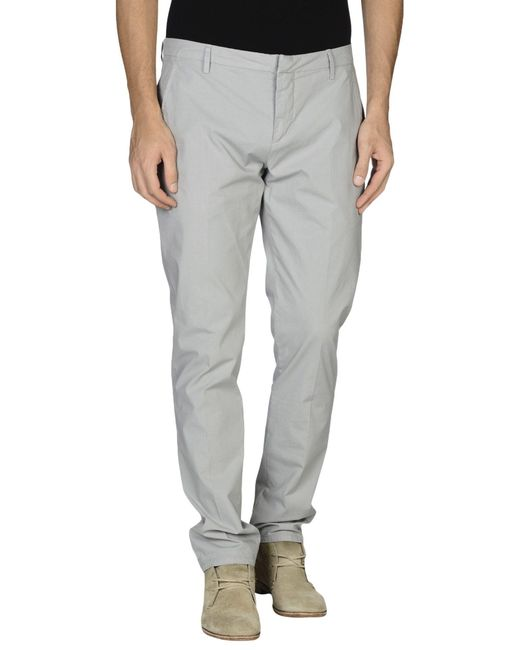 Dondup - Gray Casual Pants for Men - Lyst