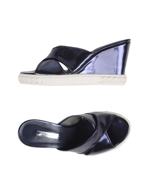 Casadei - Blue Sandals - Lyst