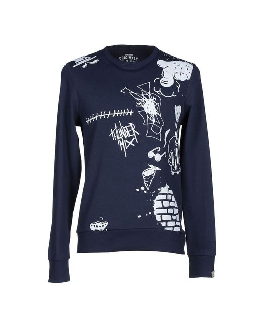 Originals By Jack & Jones - Blue Sweatshirt for Men - Lyst