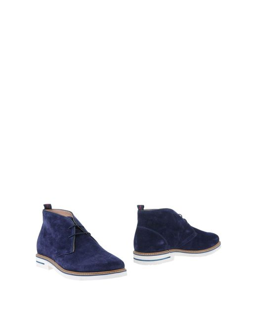 Snobs - Blue Ankle Boots for Men - Lyst