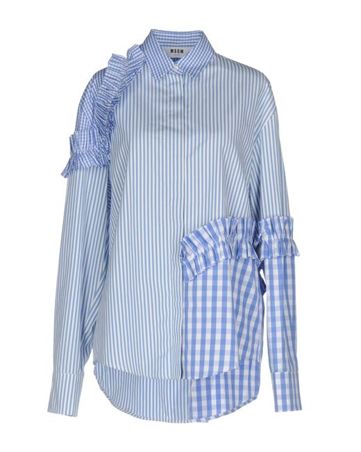 MSGM | Blue Shirts | Lyst