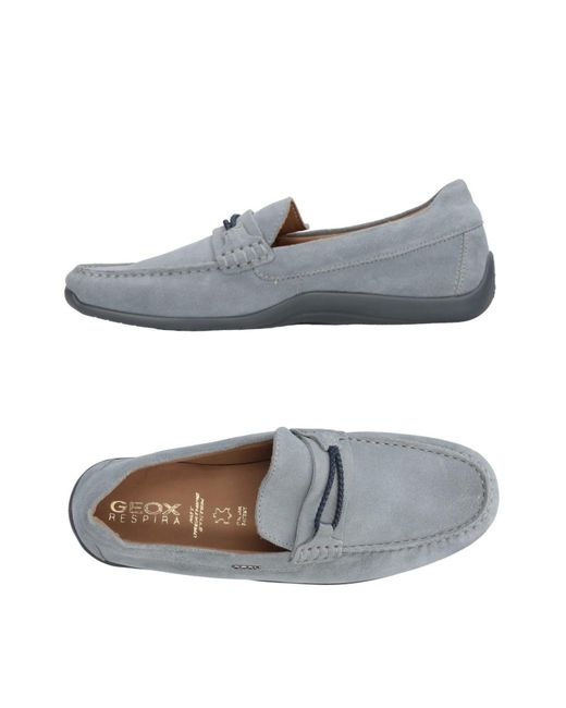 Geox - Gray Loafers for Men - Lyst