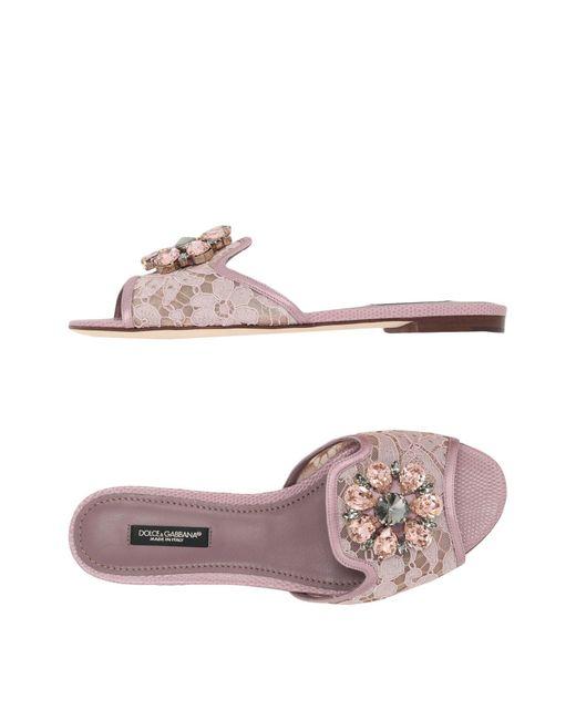 Dolce & Gabbana - Pink Bianca Slide Sandal - Lyst