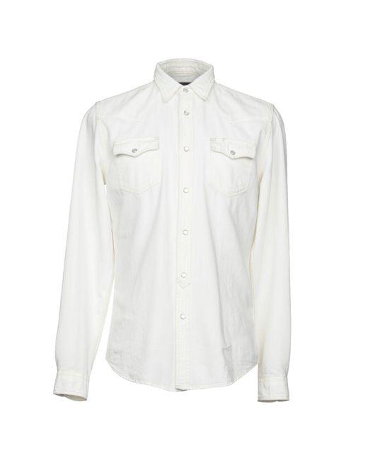 Hydrogen - White Denim Shirts for Men - Lyst