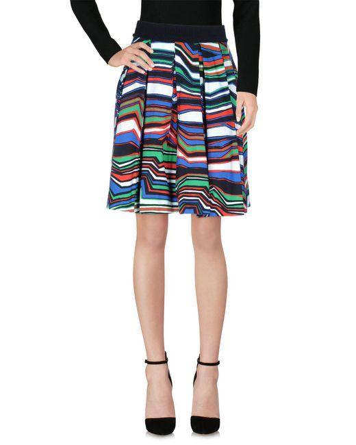 Pinko - Green Knee Length Skirt - Lyst