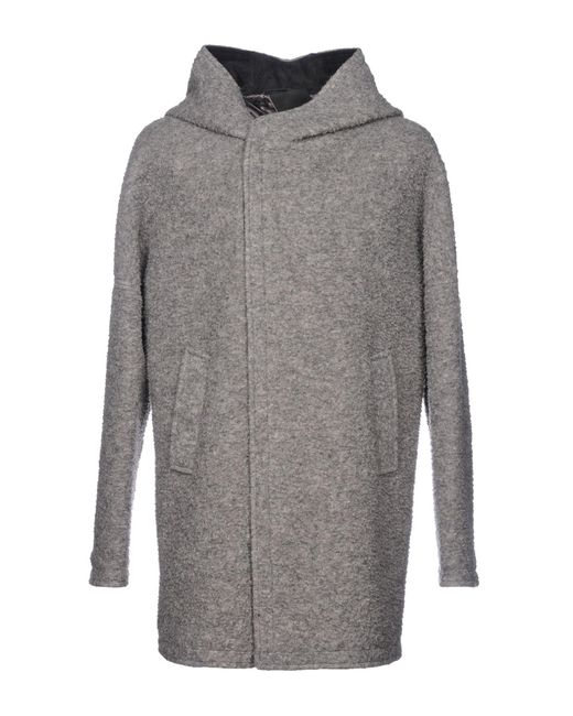 Alessandro Dell'acqua - Gray Coat for Men - Lyst