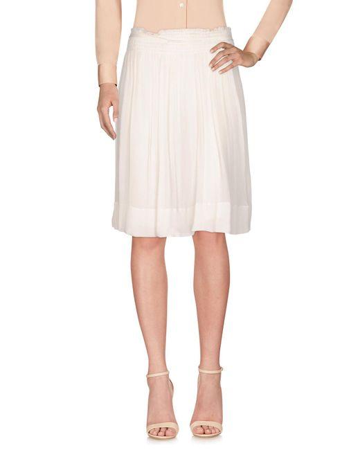 Vanessa Bruno White Knee Length Skirt