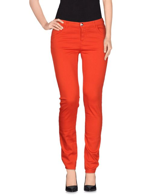 Armani - Red Casual Pants - Lyst
