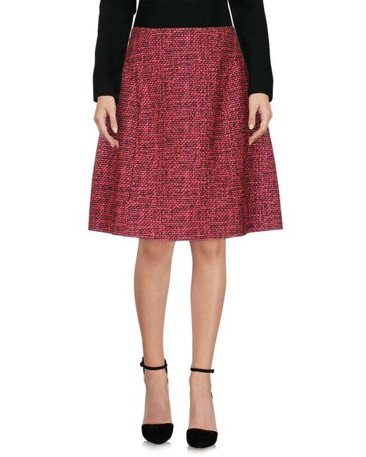 Blue Les Copains | Red Knee Length Skirt | Lyst