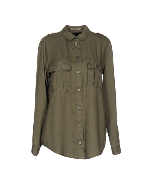Patrizia Pepe - Green Shirt - Lyst