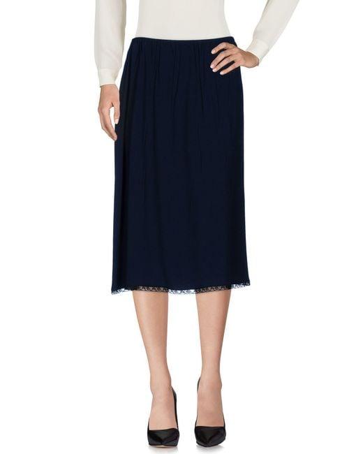 Prada - Blue 3/4 Length Skirt - Lyst