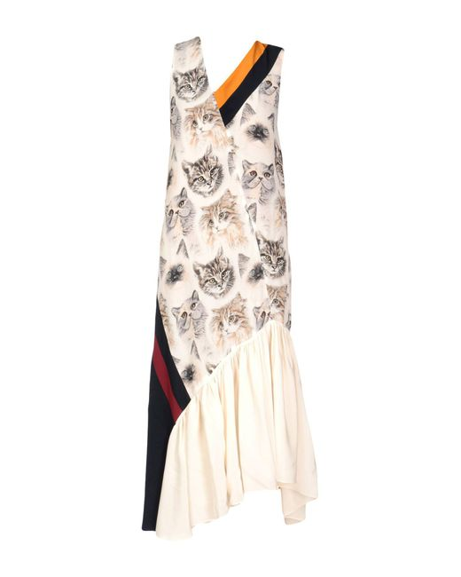 Stella Mccartney Pink Ilona Cat Printed Dress Lyst