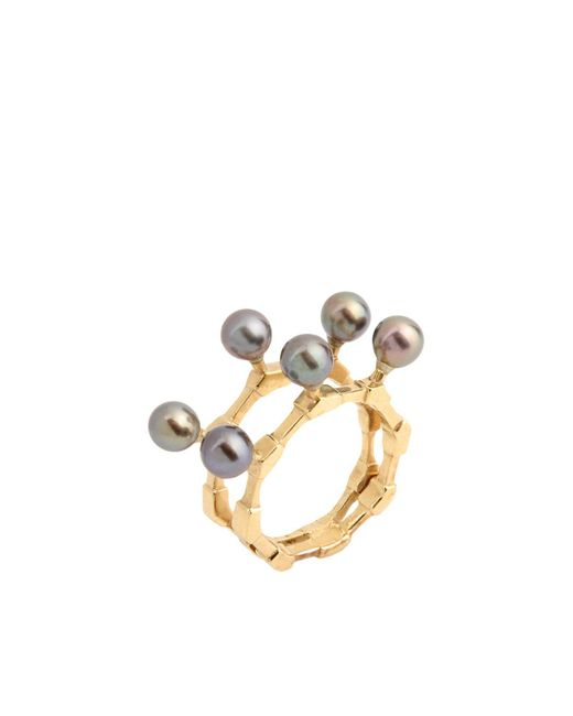 Smith/grey - Metallic Ring - Lyst