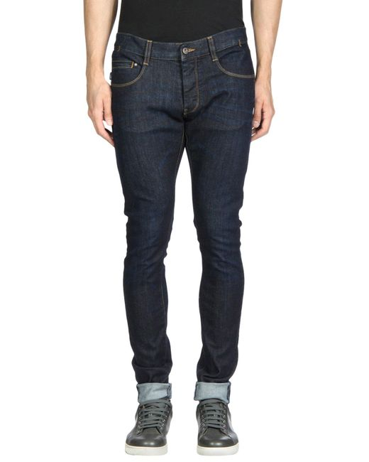 Armani Jeans - Blue Denim Trousers for Men - Lyst