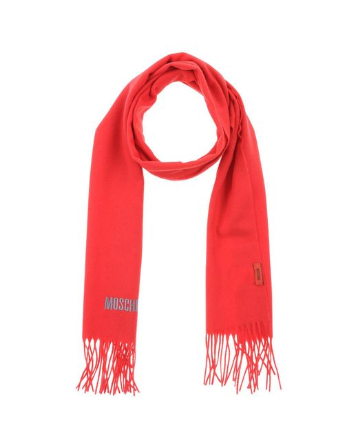 Moschino - Red Oblong Scarf - Lyst