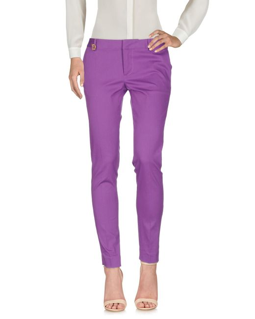 DSquared² - Purple Casual Trouser - Lyst