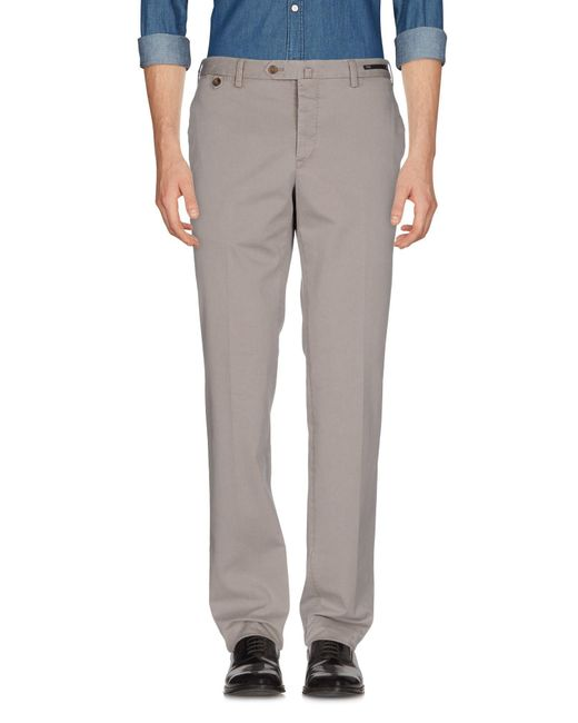 PT01 - Gray Casual Trouser for Men - Lyst