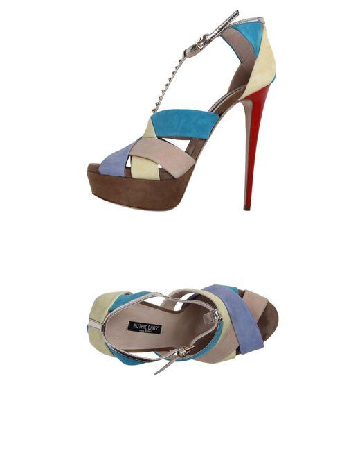 Ruthie Davis | Blue Sandals | Lyst