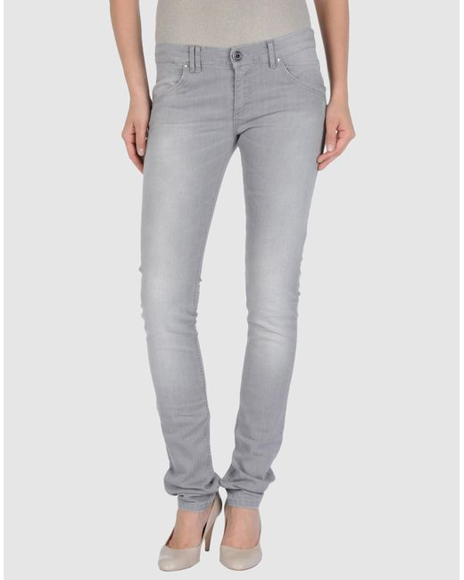 Annarita N. - Gray Denim Pants - Lyst